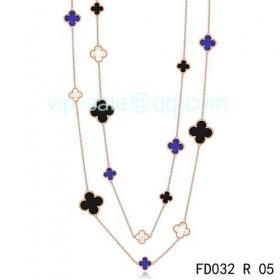 Van cleef & arpels Vintage Alhambra Necklace/Pink Gold/16 Motifs