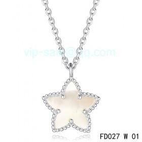 Van cleef & arpels Alhambra Maple Leaf Pendant/White Gold