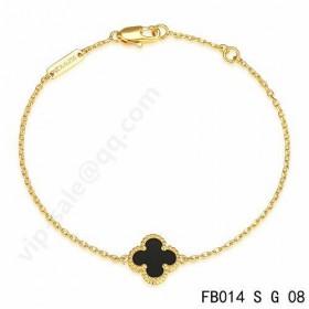 Van cleef & arpels Sweet Alhambra braceletyellow gold with Black Onyx