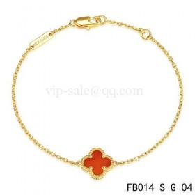 Van cleef & arpels Sweet Alhambra braceletyellow gold gold with Carnelian