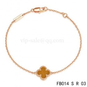 Van cleef & arpels Sweet Alhambra braceletpink gold with light red clover