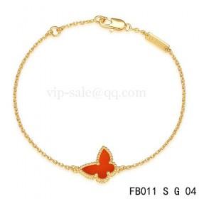 Van cleef & arpels Sweet Alhambra braceletYellow with red Butterfly