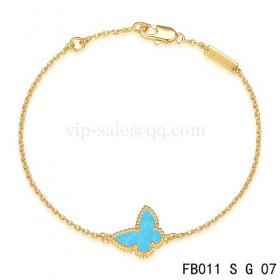 Van cleef & arpels Sweet Alhambra braceletYellow with Blue Butterfly