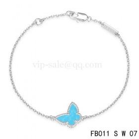 Van cleef & arpels Sweet Alhambra braceletWhite with Blue Butterfly