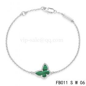 Van cleef & arpels Sweet Alhambra braceletWhite with Green Butterfly