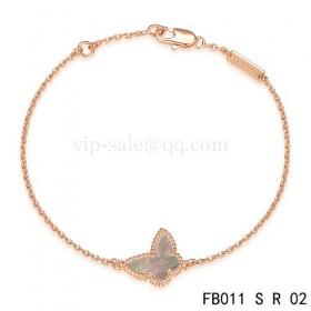 Van cleef & arpels Sweet Alhambra braceletpink with Gray Butterfly