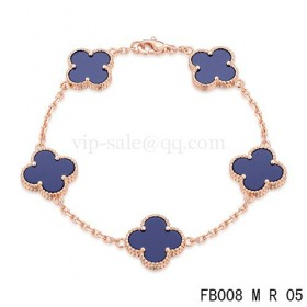 Van cleef & arpels Alhambra braceletPink with 5 Purple clover