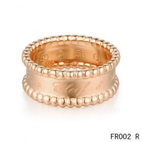 Van Cleef and Arpels Perlee Signature ringIn pink gold