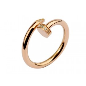 Cartier Juste un clou Ring in pink gold with diamond-paved