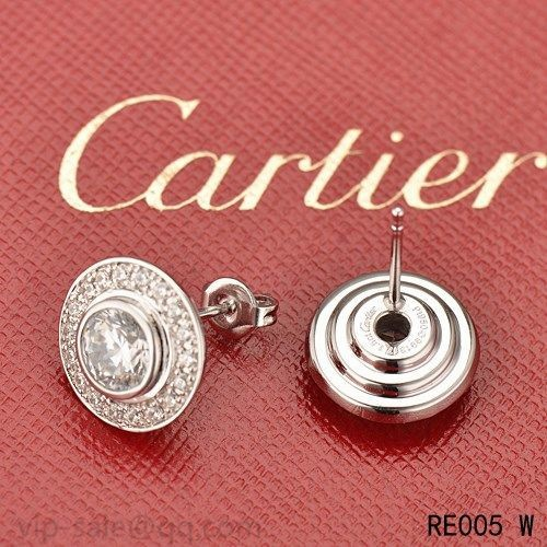 d82709350 Cartier D'AMOUR Earrings in 18K white gold with diamond · Previous Next