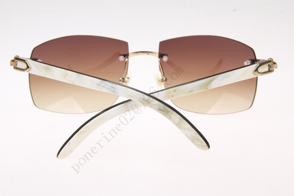 0889ca8f02c 2016 Cartier 4189705 White mix Black Buffalo Sunglasses