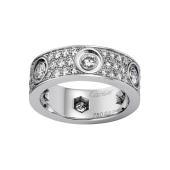 Replica Cartier diamond LOVE ring in white gold for sale
