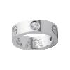 AAA grade bague LOVE Cartier or gris copie de 3 diamants