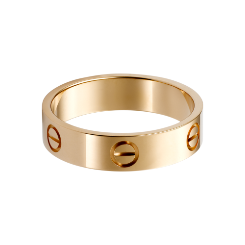 Fake Cartier LOVE ring pink gold Free shipping wordwide