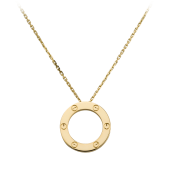 Imitation Cartier LOVE necklace with 18K yellow gold pendant