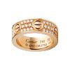 кольцо LOVE Cartier копия розовое золото с твердым покрытием бриллиантами