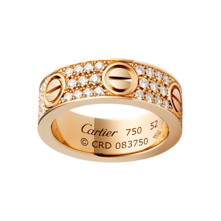 Replik Cartier LOVE ring Rotgold mit Diamanten