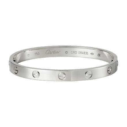 Cartier Love Bracelet imitation plaqué or blanc 18K