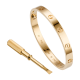Fake Cartier LOVE bracelet rose gold with screwdriver for women and men