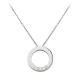 Diamond Cartier LOVE necklace fake with 3 daiamonds white gold pendant