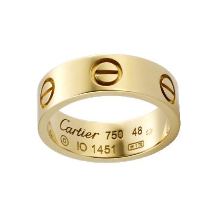 meilleure anneau replique LOVE plaqué or jaune