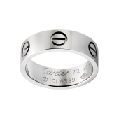 Knockoff Cartier LOVE ring in white gold at the best price online