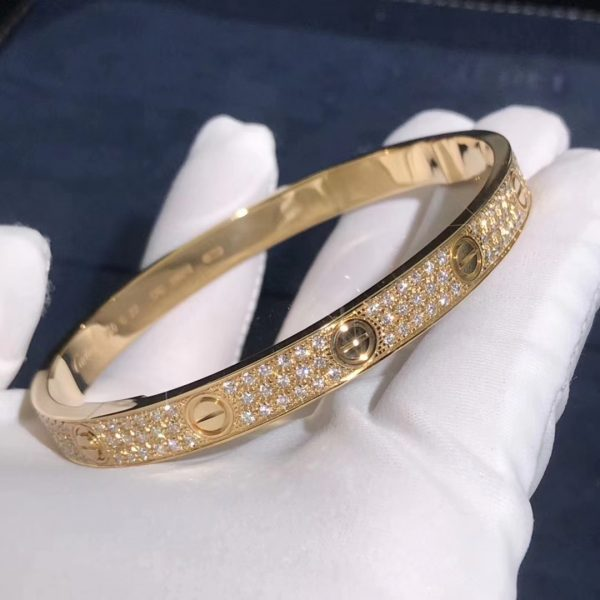 Cartier Love Bracelet, paved diamonds
