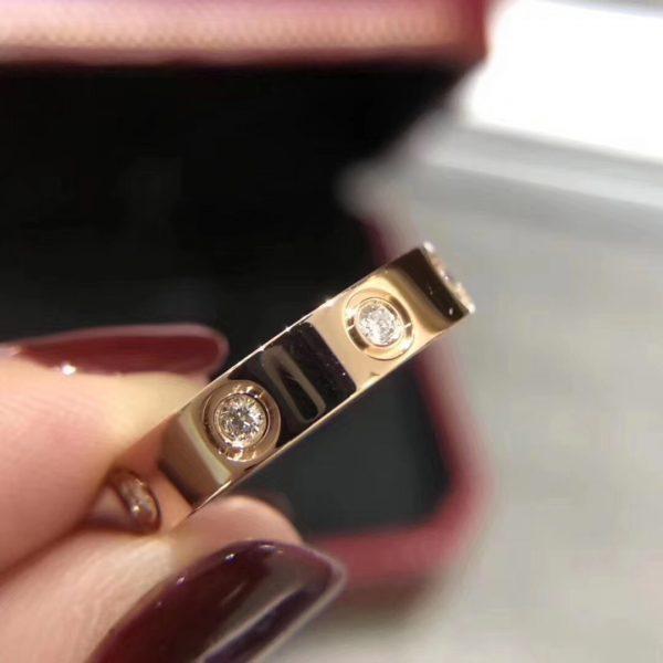 Cartier Love Ring, 8 diamonds