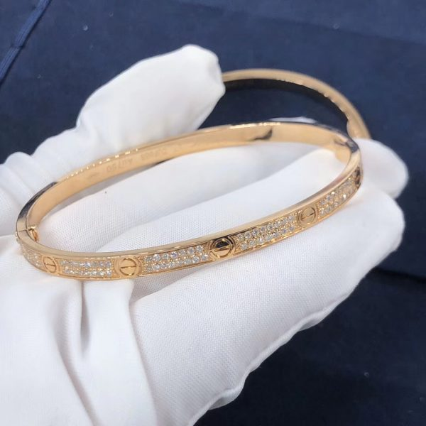 Cartier Love bracelet, small model, paved diamonds
