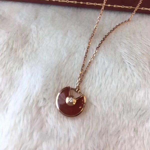 Cartier Amulette Necklace, Carnelian