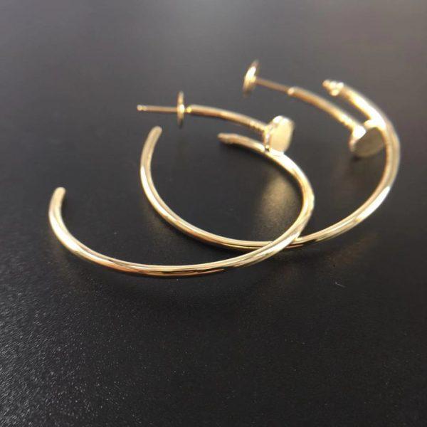 Cartier Juste Un Clou Earrings, Diamonds