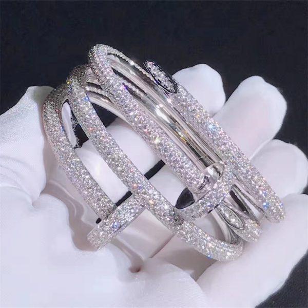 Juste un Clou cuff bracelet, 18K white gold