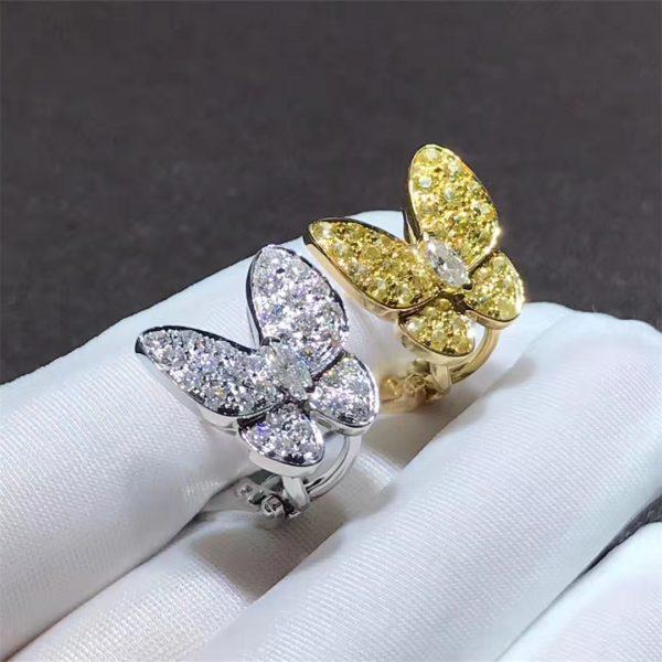 Pure 18k gold Van Cleef & Arpels Two Butterfly earrings