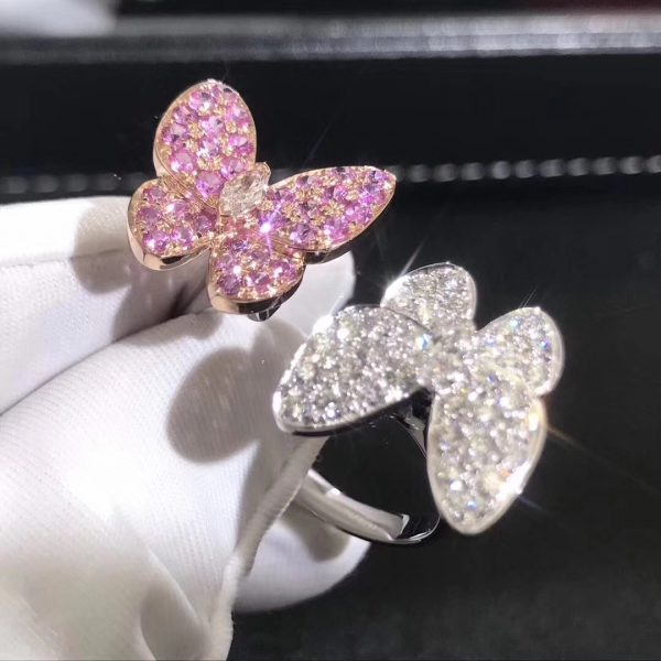 VCA Two Butterfly Between the Finger ring