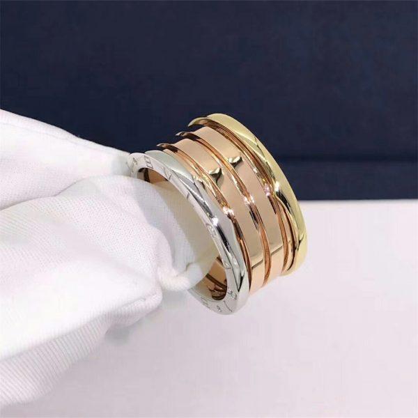 Bvlgari B.zero1 four-band ring in 18 kt rose, white and yellow