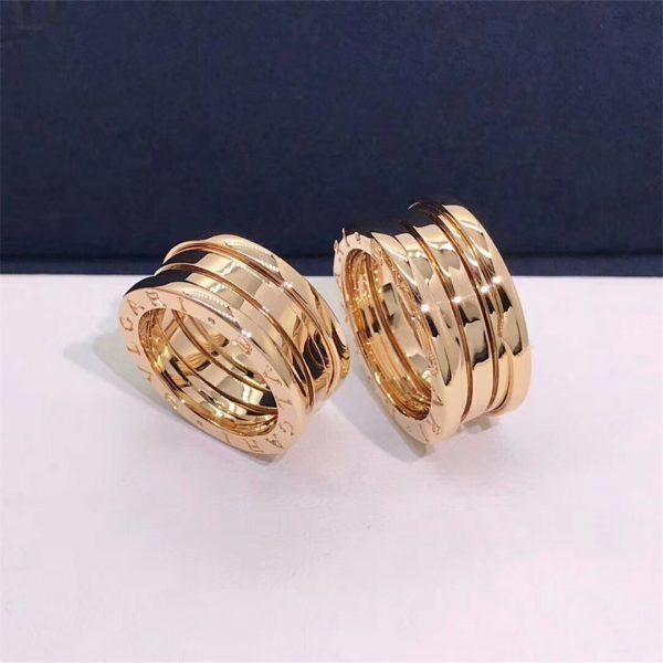 Bvlgari B.zero1 four-band ring in 18 kt yellow gold
