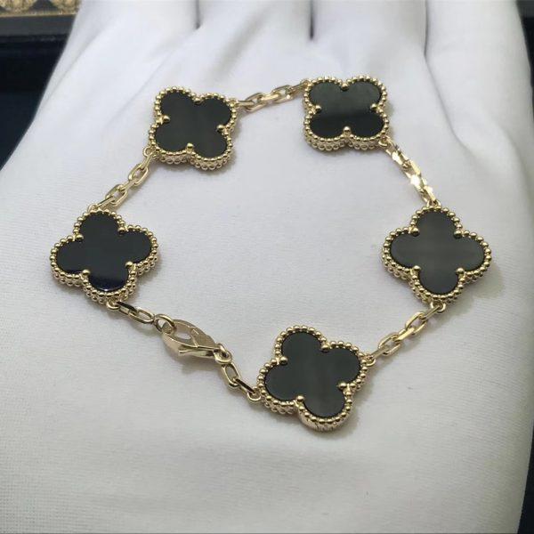 VCA Vintage Alhambra Bracelet Onyx