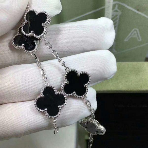 VCA Vintage Alhambra Bracelet Onyx white gold