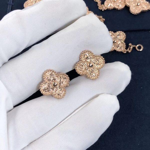 Van Cleef & Arpels Vintage Alhambra earrings, rose gold.