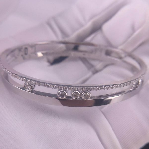Pure 18K White Gold Messika Move Seven-Band Bracelet Price