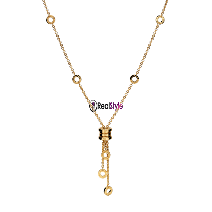 Bvlgari B.ZERO1 necklace yellow gold small pendant CL853822 replica