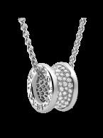 Bvlgari B.ZERO1 necklace white gold paved with diamonds pendant CL855800 replica