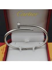 cartier juste un clou bracelet plated real white gold set with diamonds replica