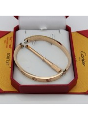 cartier love bracelet pink gold plated real with screwdriver replica