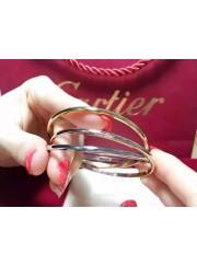 Trinity de cartier three ring 3-gold bracelet B6013302 replica