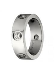 cartier love ring white gold 6 diamond wide version replica