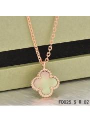 Van Cleef & Arpels Sweet Alhambra Necklace Pink Gold Grey Mother of Pearl