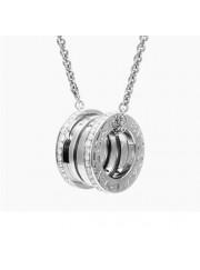 Bvlgari B.ZERO1 necklace white gold paved with diamonds pendant CL857027 replica