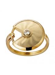 amulette de cartier yellow gold ring mosaic diamond B4217100 replica