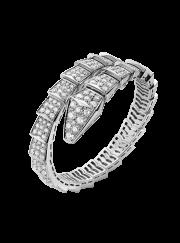 Bvlgari Serpenti Bracelet white gold Single helix Covered with diamonds BR855231 replica